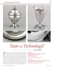 Taste or Technology? Changing Silver Borders - Winterthur