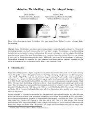 Adaptive Thresholding Using the Integral Image - Carleton University