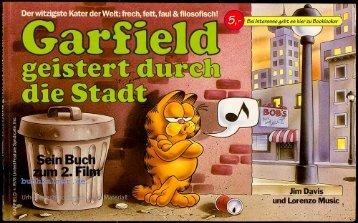 Jim Davis Garfield geistert durch die Stadt