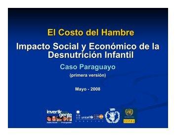 El Costo del Hambre Impacto Social y Económico de la ... - BVSDE