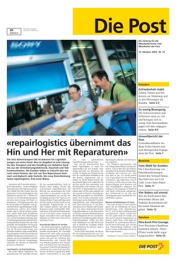 repairlogistics übernimmt das Hin und Her mit Reparaturen - Poste CH