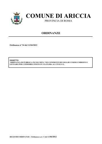 ordinanze - Comune di Ariccia