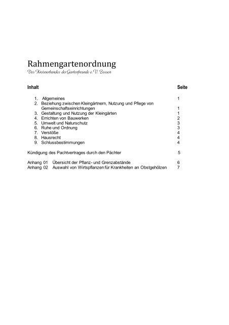 Rahmengartenordnung (neu) - Kreisverband der Gartenfreunde e.V.