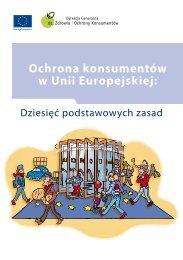 Ochrona konsumentów w Unii Europejskiej: - Europa