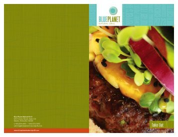 Love The Food That Loves You. - Blue Planet – Natural Grill