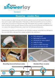 Marmox Showerlay Onto Wooden Floors Guide - Tile Fix Direct