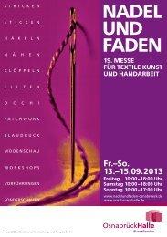 NADEL UND FADEN Katalog im pdf-Format - OsnabrückHalle