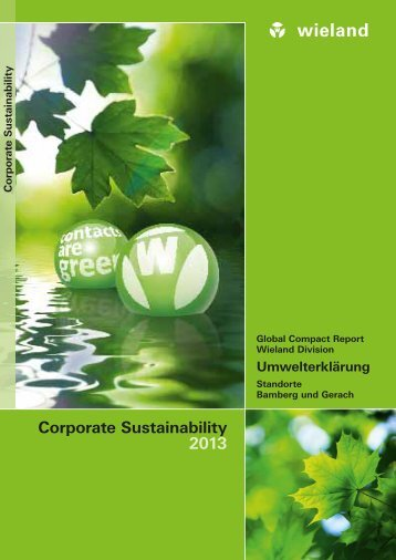 Corporate Sustainability/Umwelterklärung 2013 - Wieland Electric