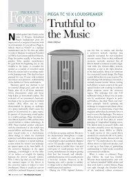 Truthful to the Music - Piega SA