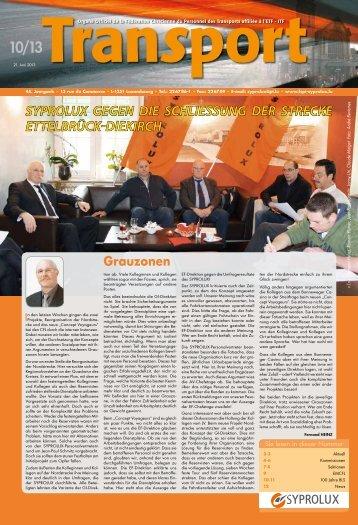 Transport N°10 2013 - Syprolux