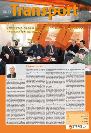 Transport N°10 2013 - Syprolux