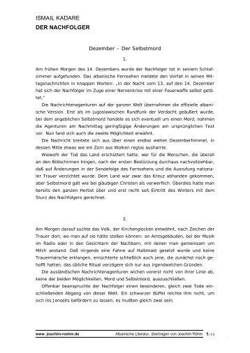 Textprobe - Roehm Joachim