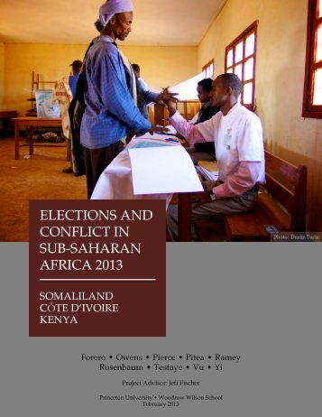 Elections and Conflict in Sub-Saharan Africa 2013 - Woodrow ...