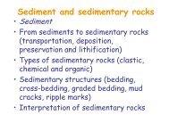 Sediment and sedimentary rocks