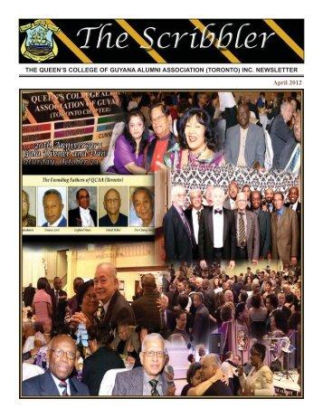 Scribbler - April 2012 Edition - Queen's College Alumni Association ...