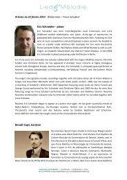 biographie des artistes - Association Lied & Mélodie