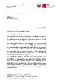 Stellungsnahme der SPD Bundestagsfraktion