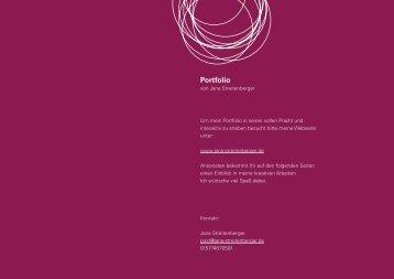 PDF Portfolio - Jana Streitenberger