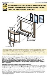 INSTALLATION INSTRUCTIONS OF BAY/BOW FRAME ... - Pella.com