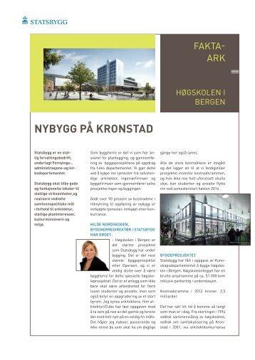 NYBYGG PÅ KRONSTAD - Statsbygg