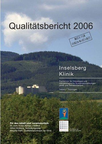Qualit.tsbericht 2006 05-07 (Page 36) - Inselsberg-Klinik
