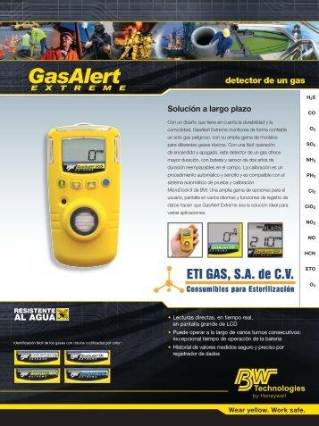 Gas Alert Extreme - Eti Gas, SA de CV