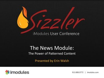 Why use the News Module? - iModules