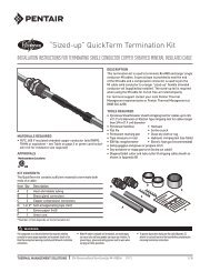 """Sized-up"" QuickTerm™ Termination Kit - Pentair Thermal Controls"