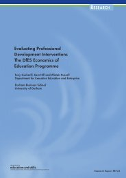 Evaluating Professional Development Interventions The DfES ...