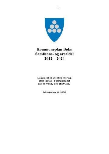 Samfunnsdel, planbeskrivelse, bestemmelser og ... - Bokn Bygdablad