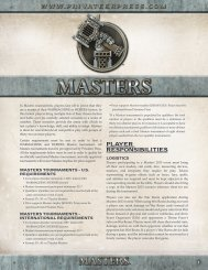 Masters 2013 Rules - Privateer Press