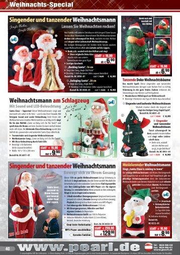 Singender und tanzender Weihnachtsmann - Pearl