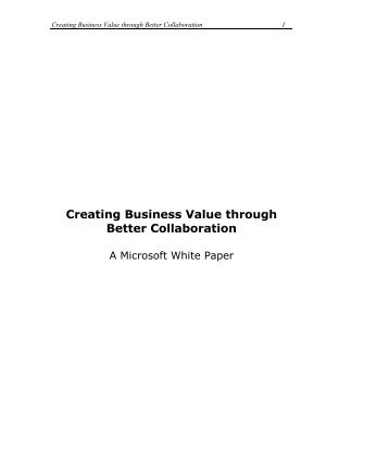Creating Business Value through Better Collaboration - Gig Werks