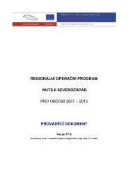 prováděcí dokument - ROP Severozápad