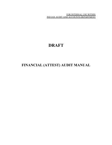 financial (attest) audit manual - Accountants General - Comptroller ...