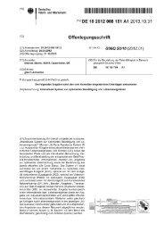 Patent-OLS - Human Vision AG