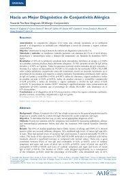 Hacia un Mejor Diagnóstico de Conjuntivitis Alérgica