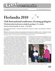 Herlandia 2010 11th International conference of young geologists