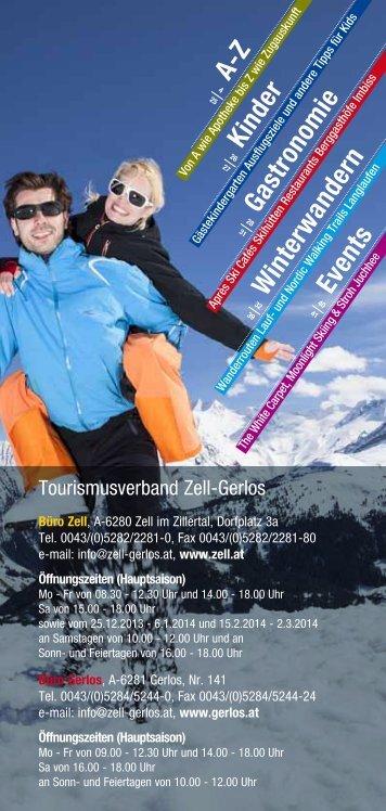 A-Z Kinder Gastronomie Winterwandern Events - Zillertal Arena