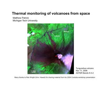 Thermal monitoring of volcanoes from space