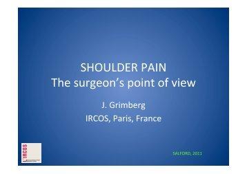 Pain - Jean Grimberg 2011.pptx - ShoulderDoc.co.uk
