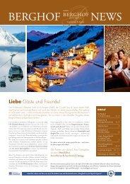 Liebe Gäste und Freunde! - Hotel Berghof