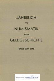 jahrbuch numismatik geldgeschichte - Bayerische Numismatische ...