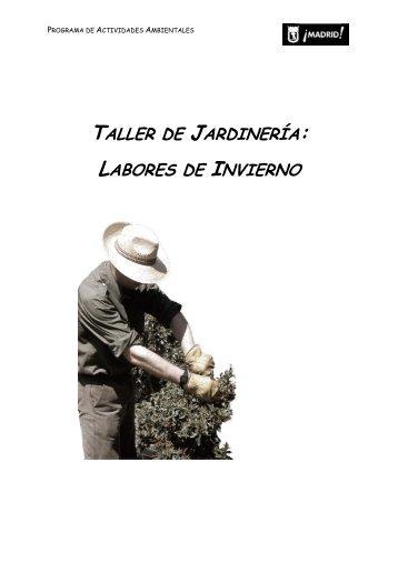 TALLER DE JARDINERÍA: LABORES DE INVIERNO - Educarm