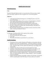 HOSPITALIST ELECTIVE Educational purpose Goal The goal of ...