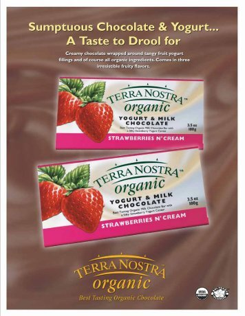 Strawberry Yogurt Bar Info - Terra Nostra