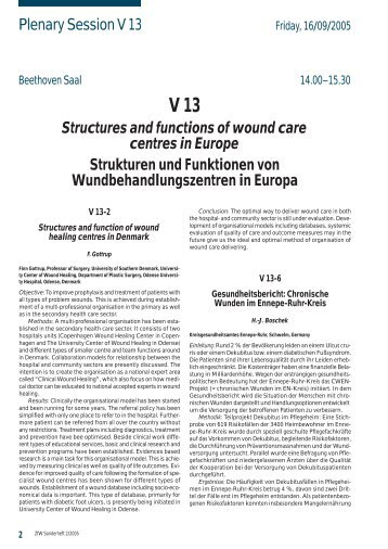 Plenary Session V 13 Structures and functions of wound ... - EWMA