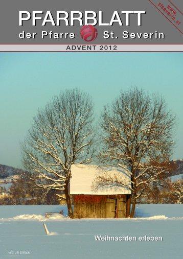 Pfarrblatt Advent 2012, f Homepage mb tif - Pfarrzentrum St.Severin