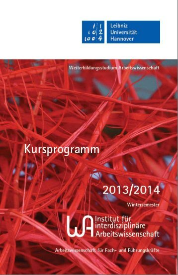 Wintersemester 2013/2014 - Weiterbildungsstudium ...