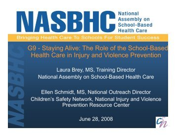Staying alive The role of SBHC in IVP Part 1.pdf - Children's Safety ...